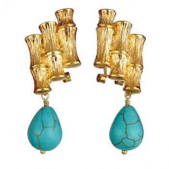 Bamboo Stalk Turquoise Drops