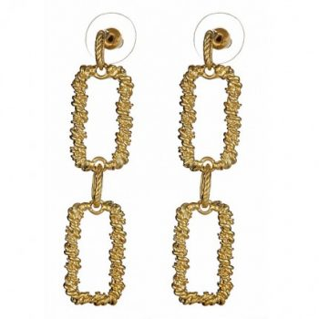 Double Square Link Earrings