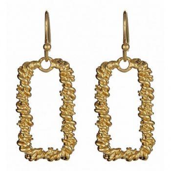 Single Square Link Earrings