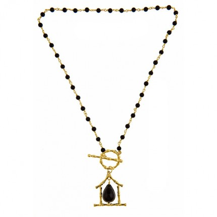 Onyx Pagoda Necklace