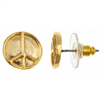 stud earrings orelia polyvore jewelry liked on sign by featuring hnl pin peace