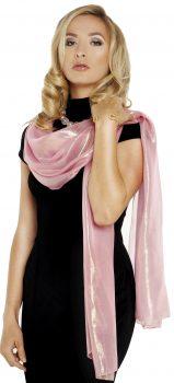 1120 Silk lurex Pink stole cropped