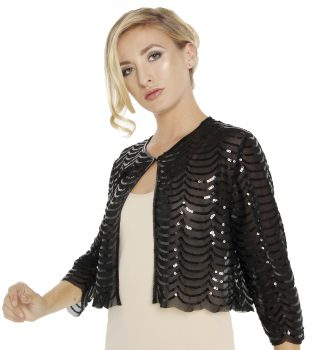 255 SN Sequin net tulle jacket cropped