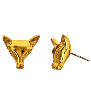 Fox_earrings_18K_gold_plate