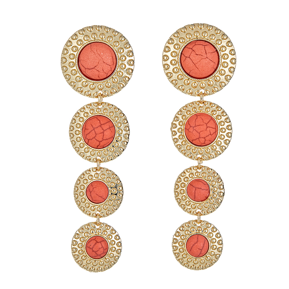Cirque earrings - Coral Dolomite $68.