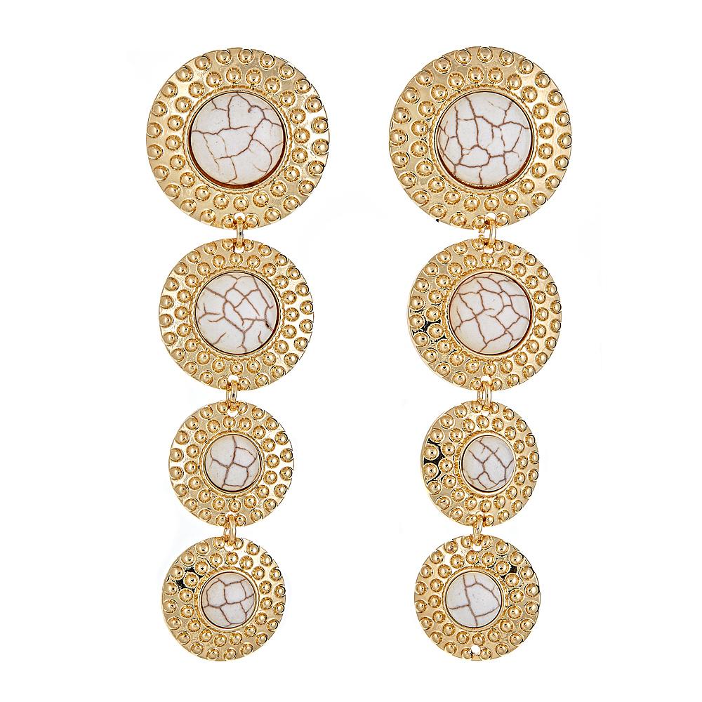 Cirque earrings - White Howlite $68