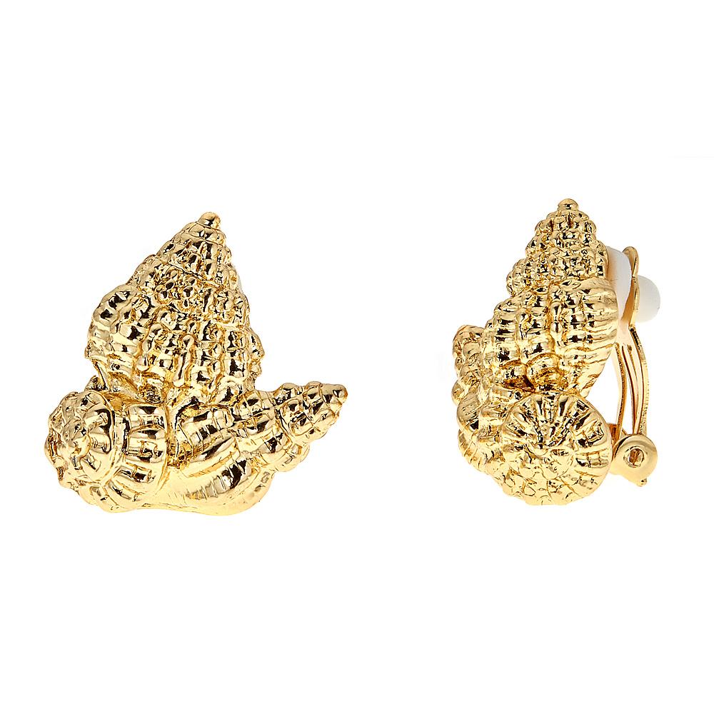 Shell Cluster earrings - clip GP $38