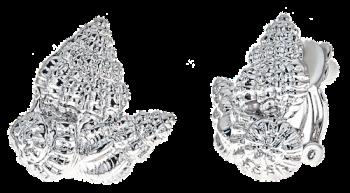 Shell cluster earrings - clip $38 no bkgrnd copy