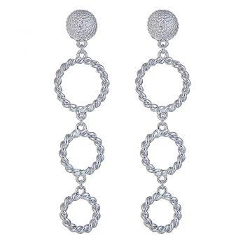 Triple Rope Ring earring - WP. $58jpg