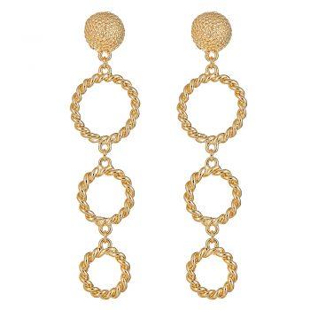 Triple rope ring earrings - GP $58