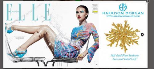 Elle Magazine Designer Jewelry Press shot