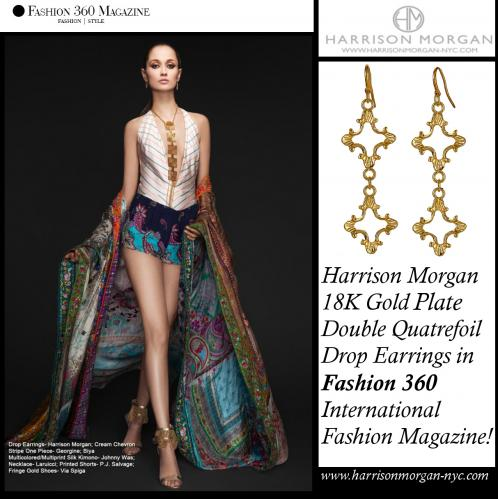 HMNYC Fashion360 Quatrefoil Earrings